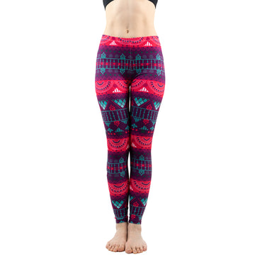 Sexy Red Stripe Pattern Fashion Leggings