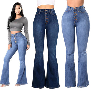 Skinny Lift Butt Leggings Bodycon Denim Pants Wide Legs Jeans