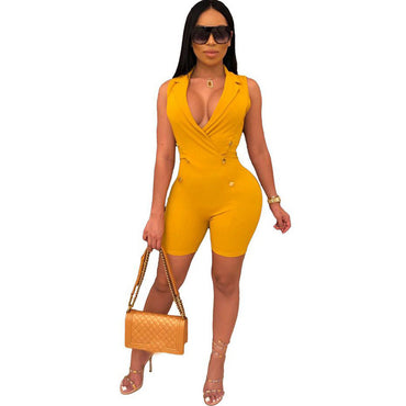 Nova Fall Body Overalls Rave One Piece Outfits Black Yellow Rompers Jumpsuit