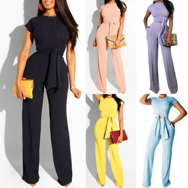 Solid Loose Jumpsuit