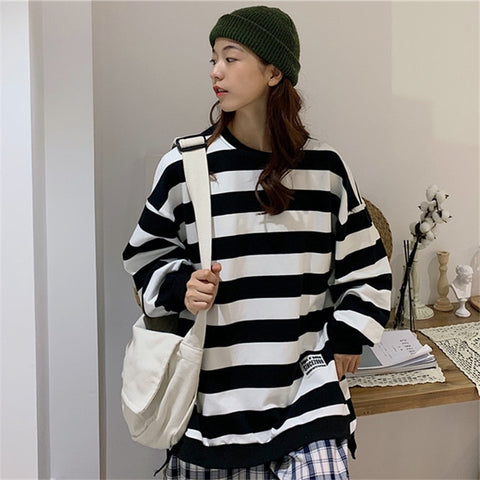 O-Neck Long Sleeve Oversize Leisure Pullover Hoodies