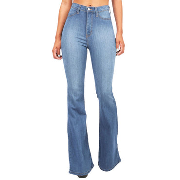 High Waist Pocket Wide Leg Jeans