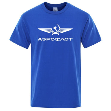 Aeroflot Aviation Russe Pilote Aerospace Aviateur T-Shirt