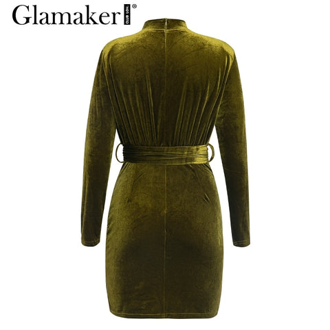 Long sleeve sexy club dress pleated elegant party dress