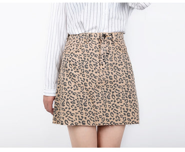 High Waist A-line Mini Skirts