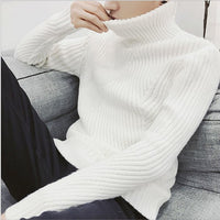 Pullovers Thicken Cashmere Knitted Jumpers Turtle Neck Sweater