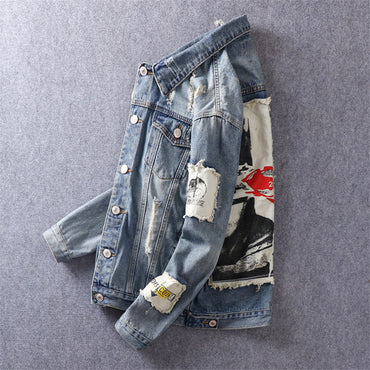 Drop-shipping Hip Hop Hole Denim Jackets