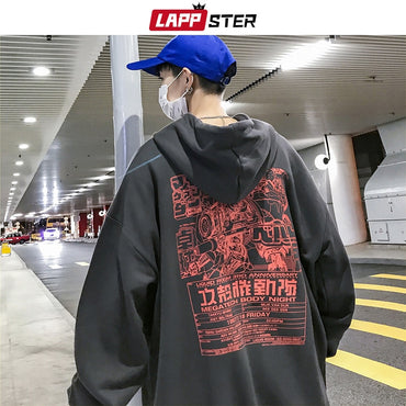Japanese Streetwear Hooded Hoodies