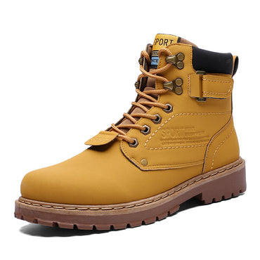Yellow Cat Warm Snow Shoes Leather Shoe Ankle Boot
