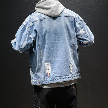 Japanese Street-wear Casual  Loose Vintage Denim Jacket