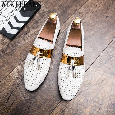tassel loafers shoes leather italian formal dress office footwear oxford shoes