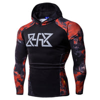 Flame Printing Sweatshirts Long Sleeve Cotton Hoodies