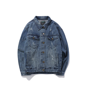 Hip Hop print casual denim jacket