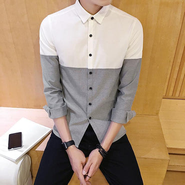 Button-down Long Sleeved Solid Dress Shirts