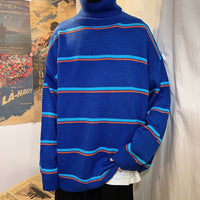 Korean Version Style Stripes Lazy Loose Casual Sweater