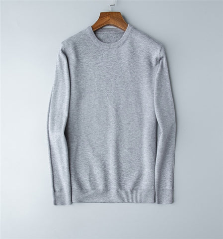 wool cotton o-neck  sweaters