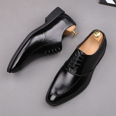 Leather Shoes Social Oxfords Shoes