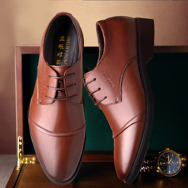 Leather  Classic Lace up Black/Brown oxford shoes