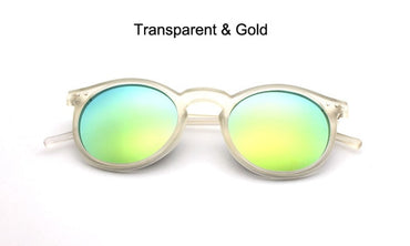 Gold Round Sunglass