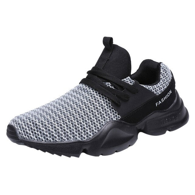 Lace-Up Sport Running Shoe Wear Resistant Light Breathable Shoes & Sneakers