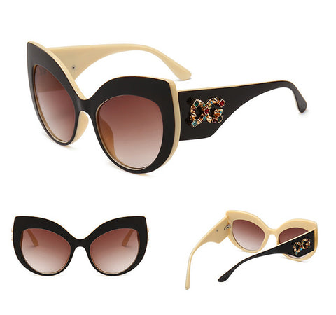 Vintage Brand Design Cat Eye Sunglasses