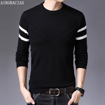 Casual  O-Neck Striped Slim Fit  Sweaters