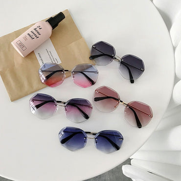 Newest Cool Polygon Shaped Hexago Sunglasses