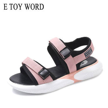 casual Hook & Loop platform sandals
