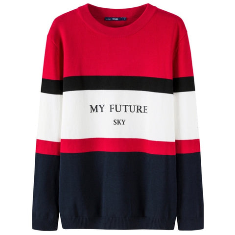 warm striped sweater personalized print sweater