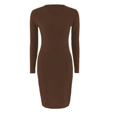 Elegant Long Sleeve Midi Sexy Dress