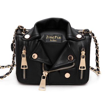 European Brand Chain Motorcycle Leather Handbags