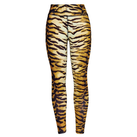 tiger print high waist bodycon sexy leggings