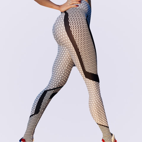 outdoor fitness slim fast dry popular classic printed swear lady pants  leggings