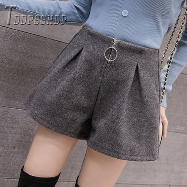 Korean Fashion A Line Wide Leg Shorts