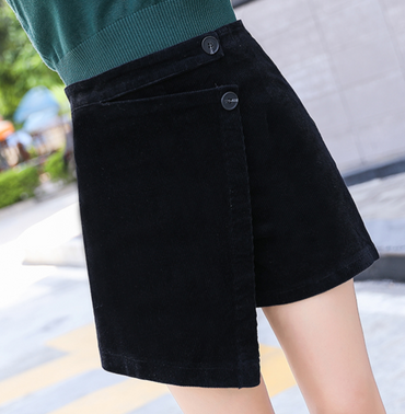 Corduroy Skirt Shorts