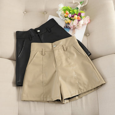 Casual PU Leather Shorts