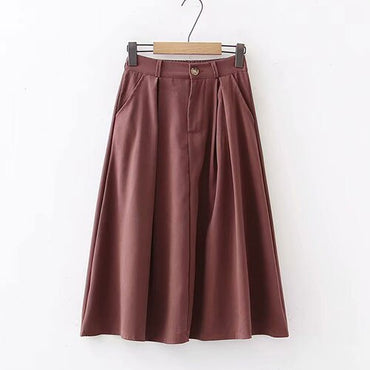 Faux Leather Suede Skirt
