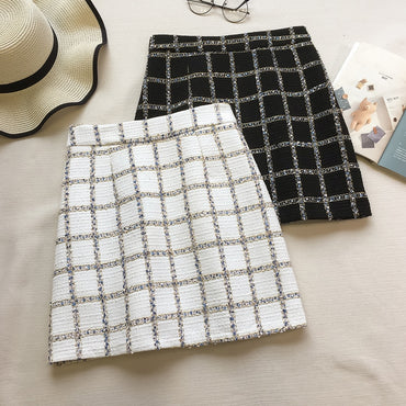 Plaid Grid Skirt