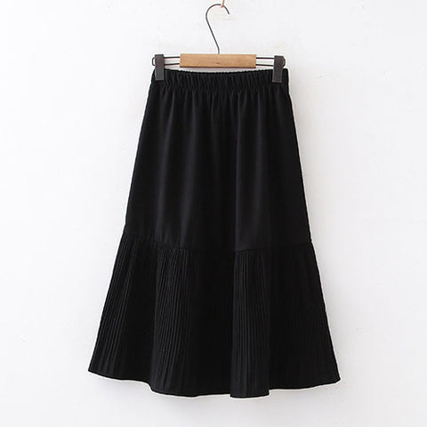 Midi Long Pleated Skirt