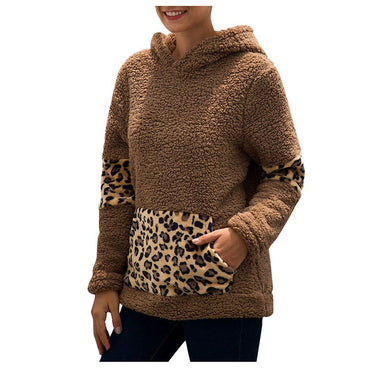 Leopard Plush Fleece Hoodies