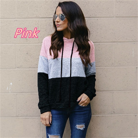 Cotton Long Sleeve Striped Top Hoodies