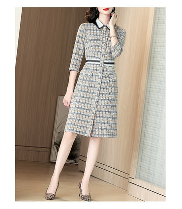 Woolen Tweed Dress