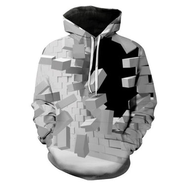 3d Creative Wall Digital Printed Pullovers Couple Size Hoodies