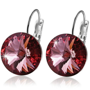 Crystal Round Stone Drop Earring