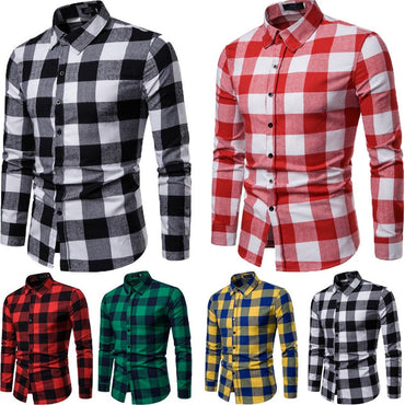Plaid Flannel Lumberjack Tartan Check Dress Shirt