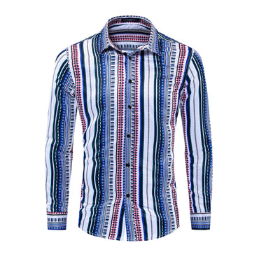 Spelling Color-purity Cotton Shirt Leisure Time Lapel  Dress Shirt
