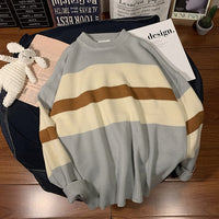 Pullover Striped Casual Knitted Korean Tops Streetwear Sweater