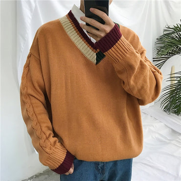 Striped Casual Knitted Sweater