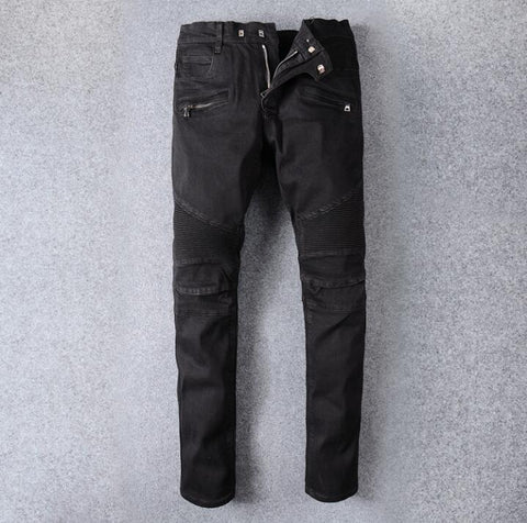 Korean version of the new black simple jeans