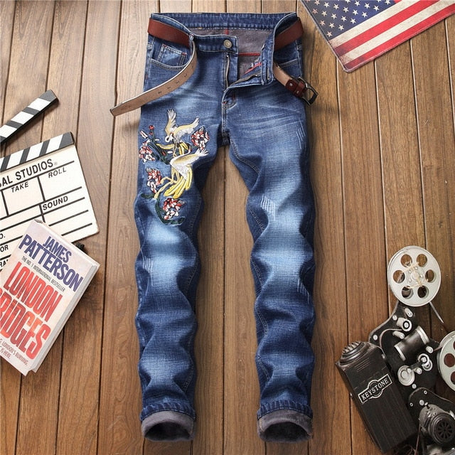 Denim Designer Hole Jeans